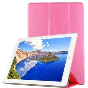 CHUWI Hi12 Tablet Frosted Texture Horizontal Flip Solid Color Leather Case with Three-folding Holder(Pink)
