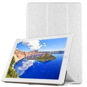 CHUWI Hi12 Tablet Frosted Texture Horizontal Flip Solid Color Leather Case with Three-folding Holder(White)