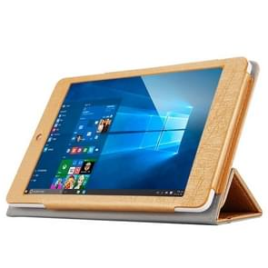 Teclast X89 Kindow Dual OS Tablet(WMC0601) Steel Wire Texture Horizontal Flip Leather Case with Three-folding Holder(Gold)