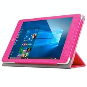 Teclast X89 Kindow Dual OS Tablet(WMC0601) Steel Wire Texture Horizontal Flip Leather Case with Three-folding Holder(Magenta)