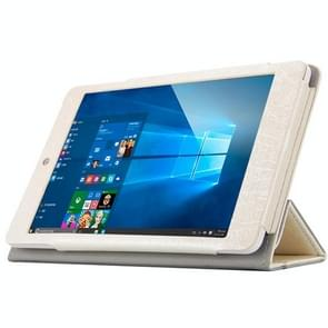 Teclast X89 Kindow Dual OS Tablet(WMC0601) Steel Wire Texture Horizontal Flip Leather Case with Three-folding Holder(White)