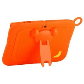 Pure Color Silicone Case with Panda Shape Plastic Holder for 7.0 inch Kids Education Tablet PC (WMC1078)(Orange)