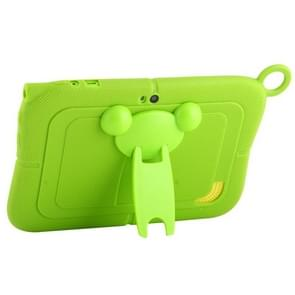 Pure Color Silicone Case with Panda Shape Plastic Holder for 7.0 inch Kids Education Tablet PC (WMC1078)(Green)