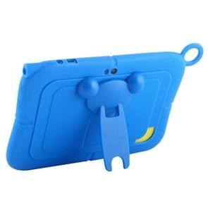 Pure Color Silicone Case with Panda Shape Plastic Holder for 7.0 inch Kids Education Tablet PC (WMC1078)(Blue)