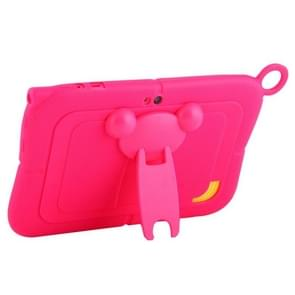 Pure Color Silicone Case with Panda Shape Plastic Holder for 7.0 inch Kids Education Tablet PC (WMC1078)(Magenta)