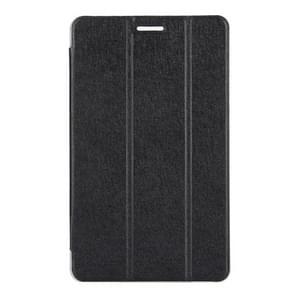 Huawei MediaPad T3 8 inch Silk Texture Horizontal Flip Leather Case with 3-folding Holder(Black)