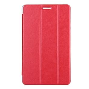 Huawei MediaPad T3 8 inch Silk Texture Horizontal Flip Leather Case with 3-folding Holder(Red)