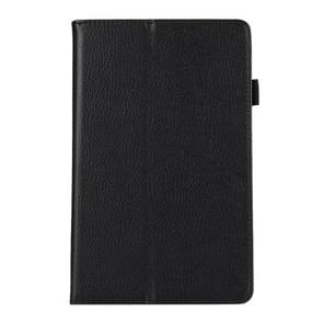 For Amazon Kindle Fire 7 (2017) Litchi Texture Horizontal Flip Leather Case with Holder(Black)