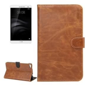 ENKAY For Huawei MediaPad M2 7.0 Crazy Horse Texture Horizontal Flip Leather Protective Case Shell with Sleep / Wake-up Function & Holder & Card Slots & Wallet(Brown)