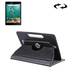9 inch Tablets Leather Case Crazy Horse Texture 360 Degrees Rotation Protective Case Shell with Holder for ONDA V891w, Ramos i9s Pro & Win8, Colorfly i898W & i898A(Black)