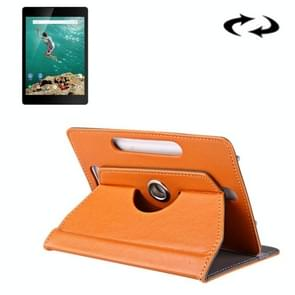 9 inch Tablets Leather Case Crazy Horse Texture 360 Degrees Rotation Protective Case Shell with Holder for ONDA V891w, Ramos i9s Pro & Win8, Colorfly i898W & i898A(Orange)