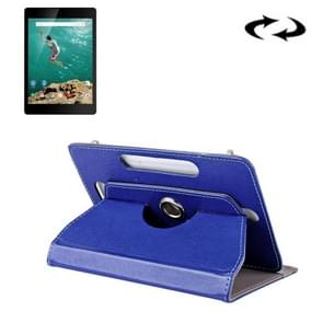 9 inch Tablets Leather Case Crazy Horse Texture 360 Degrees Rotation Protective Case Shell with Holder for ONDA V891w, Ramos i9s Pro & Win8, Colorfly i898W & i898A(Blue)