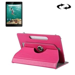 9 inch Tablets Leather Case Crazy Horse Texture 360 Degrees Rotation Protective Case Shell with Holder for ONDA V891w, Ramos i9s Pro & Win8, Colorfly i898W & i898A(Magenta)