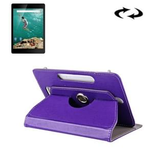 9 inch Tablets Leather Case Crazy Horse Texture 360 Degrees Rotation Protective Case Shell with Holder for ONDA V891w, Ramos i9s Pro & Win8, Colorfly i898W & i898A(Purple)