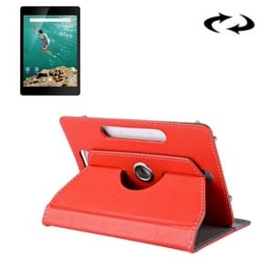 9 inch Tablets Leather Case Crazy Horse Texture 360 Degrees Rotation Protective Case Shell with Holder for ONDA V891w, Ramos i9s Pro & Win8, Colorfly i898W & i898A(Red)