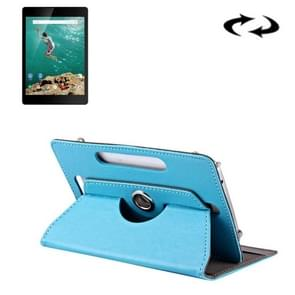 9 inch Tablets Leather Case Crazy Horse Texture 360 Degrees Rotation Protective Case Shell with Holder for ONDA V891w, Ramos i9s Pro & Win8, Colorfly i898W & i898A(Baby Blue)