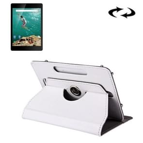 9 inch Tablets Leather Case Crazy Horse Texture 360 Degrees Rotation Protective Case Shell with Holder for ONDA V891w, Ramos i9s Pro & Win8, Colorfly i898W & i898A(White)