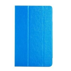Cube U63 / U63GT (WMC0004) Steel Wire Texture Horizontal Flip Leather Case with Three-folding Holder(Blue)