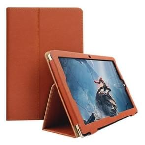 Teclast P10 Tablet(WMC2369) Bark Texture Horizontal Flip Leather Case with Holder(Brown)