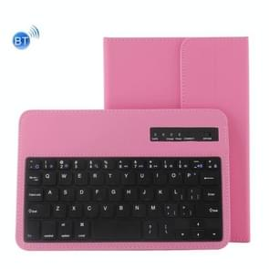 Universal Bluetooth V3.0 Keyboard Detachable PU Leather Case for 7-8 inch Tablet PC(Pink)