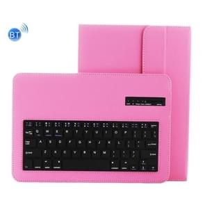 Universal Bluetooth V3.0 Keyboard Detachable PU Leather Case for 9.7-10 inch Tablet PC(Pink)