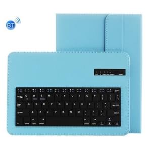 Universal Bluetooth V3.0 Keyboard Detachable PU Leather Case for 9.7-10 inch Tablet PC(Blue)