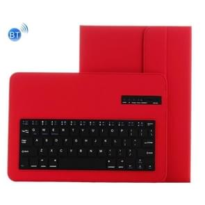 Universal Bluetooth V3.0 Keyboard Detachable PU Leather Case for 9.7-10 inch Tablet PC(Red)