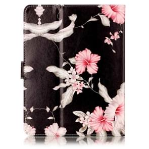 For 7 inch Tablet PC Azalea Pattern universal Horizontal Flip Leather Case with Holder & Card Slots & Wallet