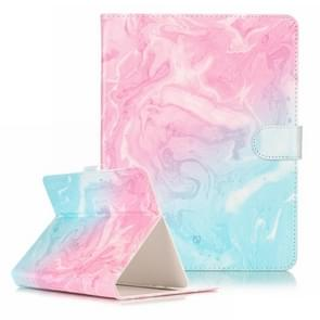 For 10 inch Tablet PC Pink Green Marble Pattern universal Horizontal Flip Leather Case with Holder & Card Slots & Wallet(Black)