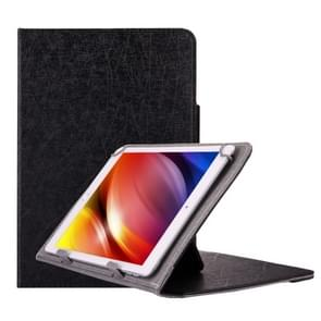 Universal Strokes Texture Horizontal Flip Leather Case with Holder for 10 inch Tablet PC(Black)