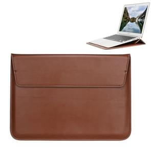 Universal Envelope Style PU Leather Case with Holder for Ultrathin Notebook Tablet PC 15.4 inch, Size: 39x28x1.5cm(Brown)