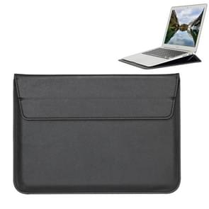 Universal Envelope Style PU Leather Case with Holder for Ultrathin Notebook Tablet PC 13.3 inch, Size: 35x25x1.5cm(Black)
