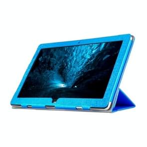 OCUBE Teclast TBook 12 Steel Wire Texture Horizontal Flip Leather Case with Three-folding Holder(Blue)