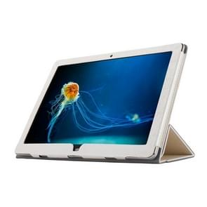 OCUBE Teclast TBook 12 Steel Wire Texture Horizontal Flip Leather Case with Three-folding Holder(White)