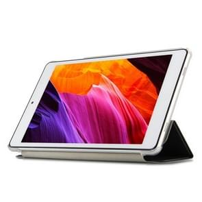 Frosted Texture Horizontal Flip PU Leather Protective Case for Teclast P80 Pro,  with Three-folding Holder (Black)