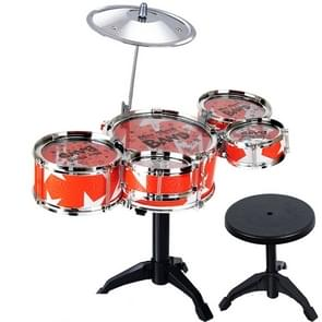 Children Simulation Shelf Drum Jazz Drum With Chair Set