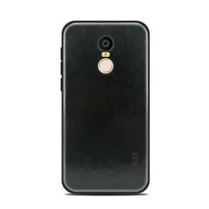 MOFI Xiaomi roodmi 5 Plus PC+TPU+PU lederen beschermings Back Cover hoesje(zwart)