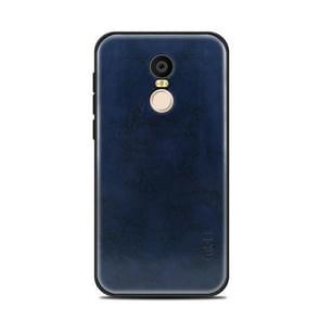 MOFI Xiaomi roodmi 5 Plus PC+TPU+PU lederen beschermings Back Cover hoesje(blauw)