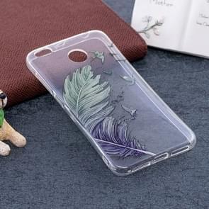 Xiaomi Redmi 4X Blue Birds Feather Pattern TPU Soft Protective Back Case