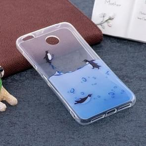 Xiaomi Redmi 4X Lovely Penguins Pattern TPU Soft Protective Back Case