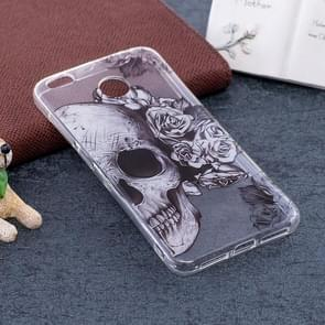 Xiaomi Redmi 4X Skull Pattern TPU Soft Protective Back Case