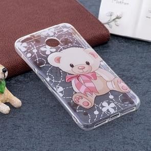 Xiaomi Redmi 4X Bear Pattern TPU Soft Protective Back Case