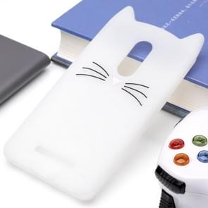 Xiaomi roodmi Note 4 siliconen Cat Whiskers patroon beschermings Back Cover hoesjewit