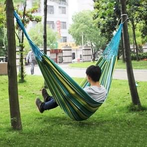 Blue and Green Stripe Outdoor Canvas Hammock Portable Beach Swing Bed, Size: 200*150cm