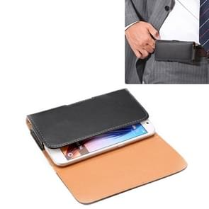 For iPhone X & Samsung Galaxy S6 / G920 Crazy Horse Texture Vertical Flip Leather Case / Waist Bag with Back Splint