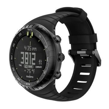 Slimme horloge silicone polsband horlogebandje voor Suunto Core (zwart)