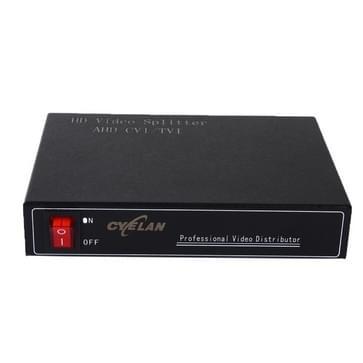 Coaxiale AHD/CVI/TVI 1 in 4 video signaal splitter
