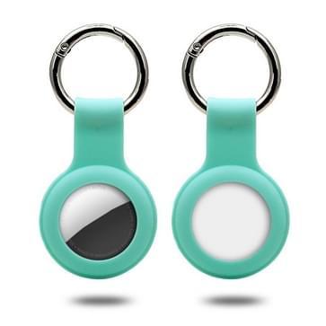 Siliconen hoesje met sleutelhanger ring voor AirTag (Mint Green)