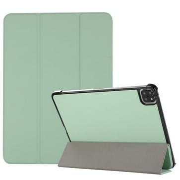 3-vouwen huidtextuur horizontale flip TPU + PU lederen tas met houder voor iPad Pro 11 2021