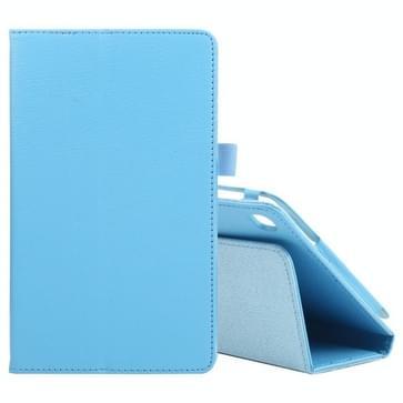Voor Samsung Galaxy Tab A7 Lite T220 / T225 Litchi Texture Solid Color Horizontal Flip Leren Case met Houder & Pen Slot (Sky Blue)